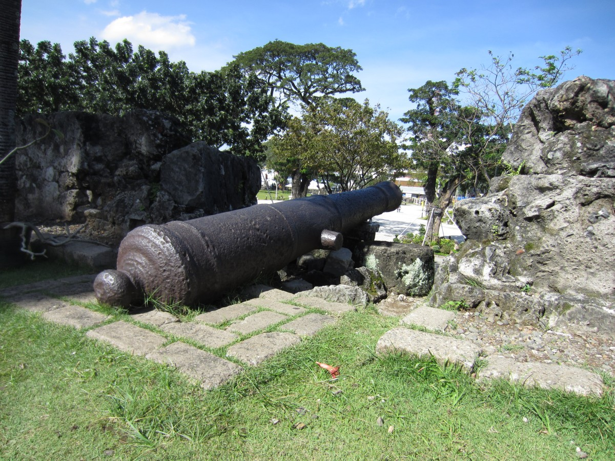 Fort San Pedro, Cebu, Philippines, cannons, Spanish fort